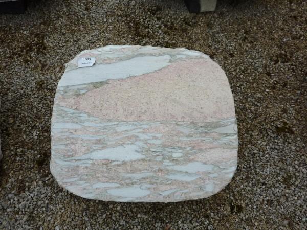 Liegestein aus Nordland Rose gebrannt, 50x40x14cm