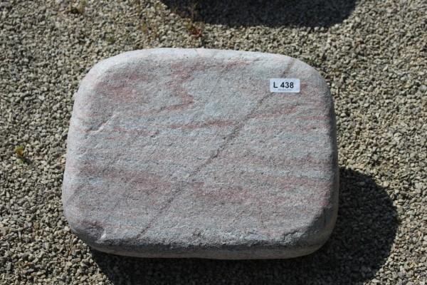 Liegestein aus Mystery Pink ca. 50x38x12cm