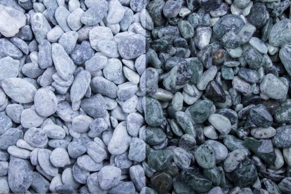 Kristall Grün getrommelt, 15-25