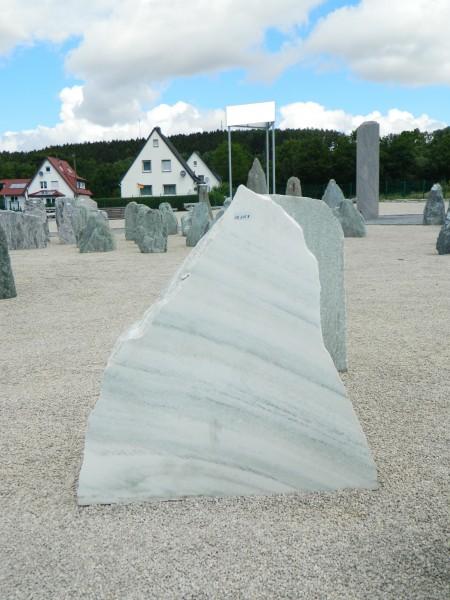 Felsen aus Verde Bianco 100x16x100cm