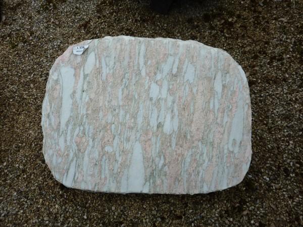 Liegestein aus Nordland Rose gebrannt, 60x45x14cm